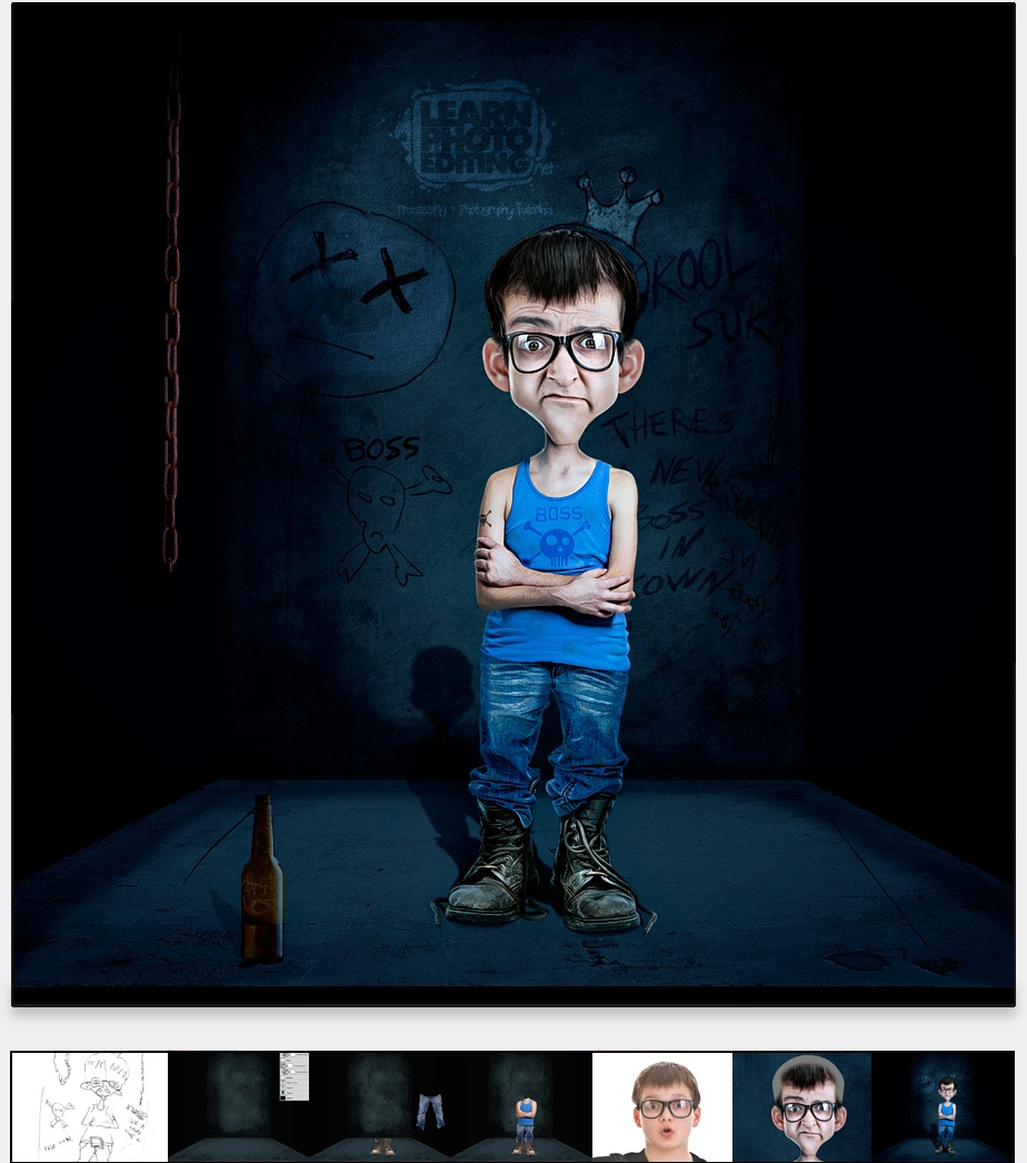 HOW TO CREATE A CARTOON CHARACTER WITH PHOTOMANIPULATION & RETOUCHING
